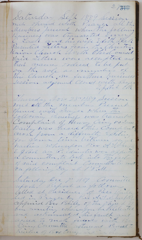 Sessional Records of the 1st Presbyterian Church of Trenton Delaware County Ohio 1873-1937 (p. 31)