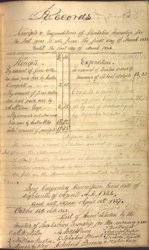 Record Book of Berkshire Township No. 2 1807-1843 (p. 51)
