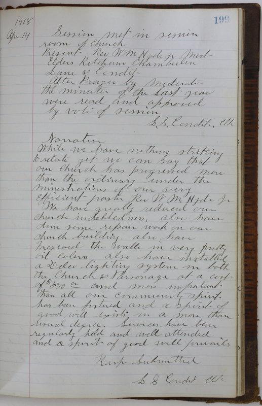 Sessional Records of the 1st Presbyterian Church of Trenton Delaware County Ohio 1873-1937 (p. 187)