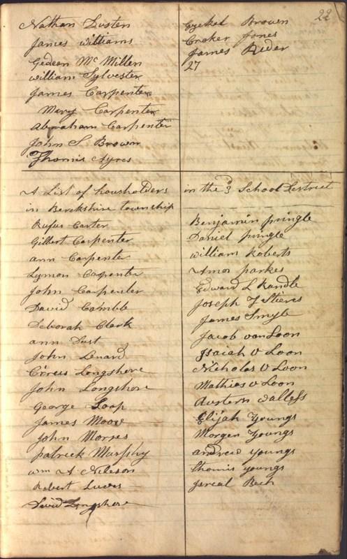 Record Book of Berkshire Township No. 2 1807-1843 (p. 35)