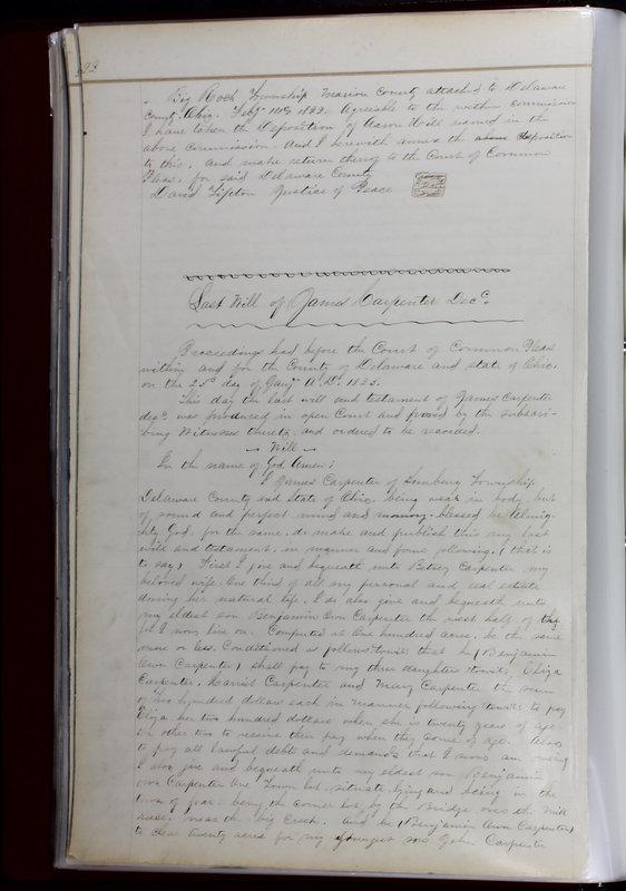 Delaware County Ohio Will Records Vol. 1 1812-1835 (p. 54)