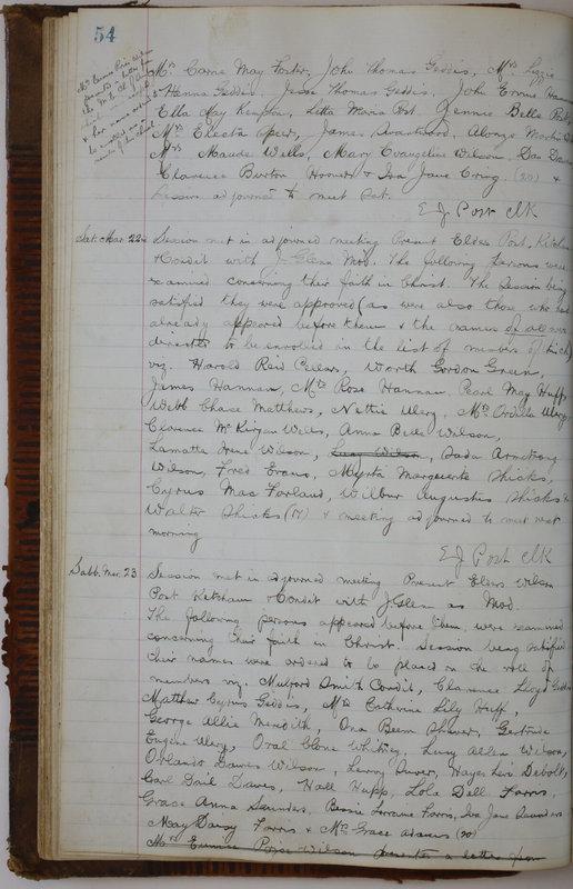 Sessional Records of the 1st Presbyterian Church of Trenton Delaware County Ohio 1873-1937 (p. 58)