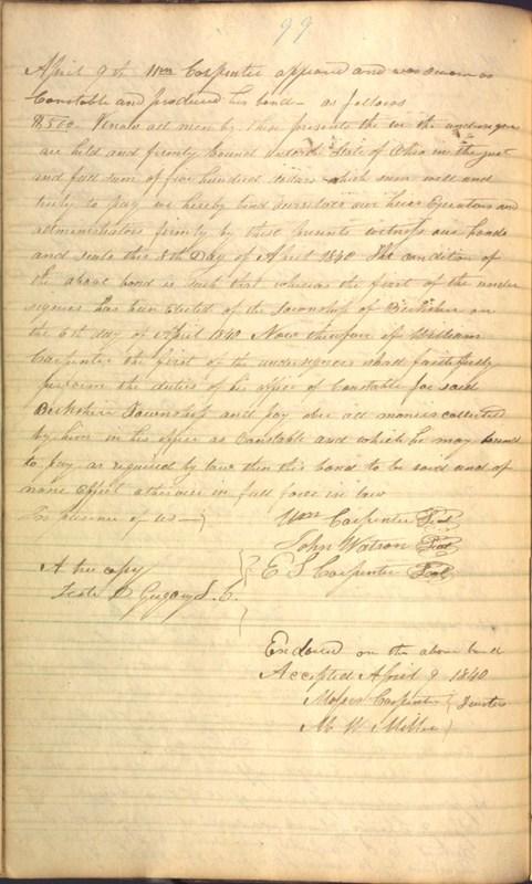 Record Book of Berkshire Township No. 2 1807-1843 (p. 112)