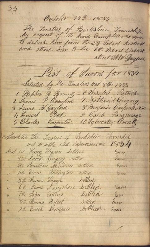 Record Book of Berkshire Township No. 2 1807-1843 (p. 48)