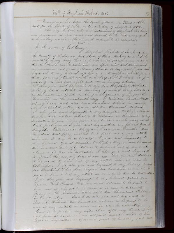 Delaware County Ohio Will Records Vol. 1 1812-1835 (p. 59)