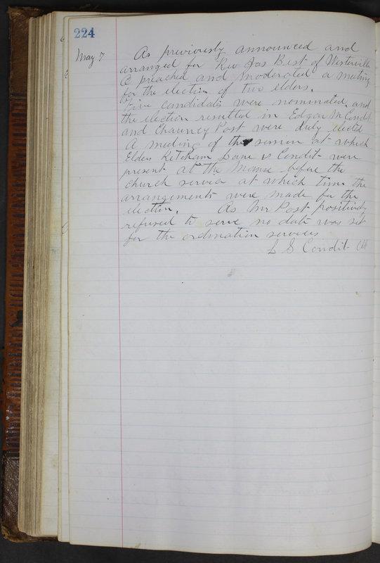 Sessional Records of the 1st Presbyterian Church of Trenton Delaware County Ohio 1873-1937 (p. 212)