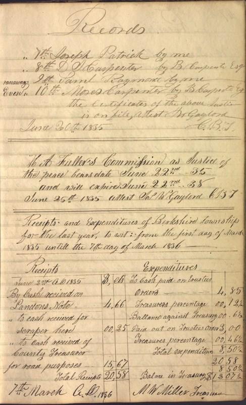Record Book of Berkshire Township No. 2 1807-1843 (p. 59)