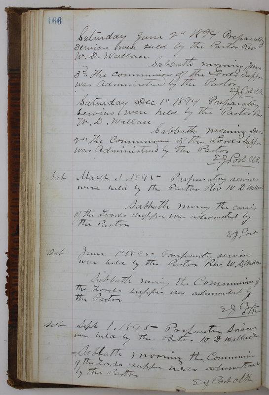 Sessional Records of the 1st Presbyterian Church of Trenton Delaware County Ohio 1873-1937 (p. 156)