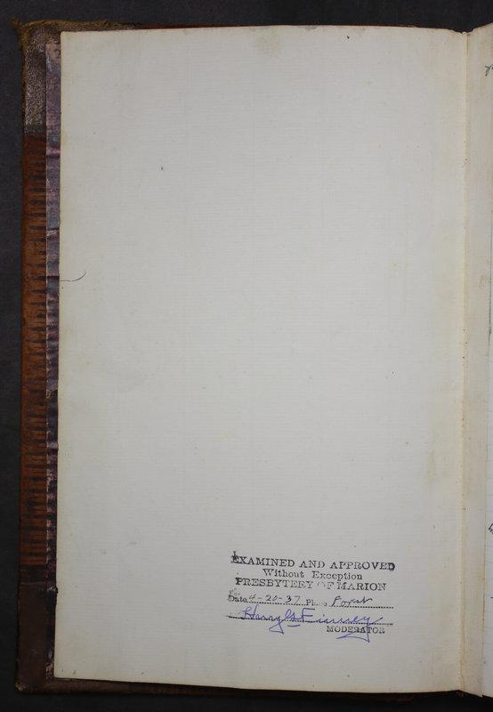 Sessional Records of the 1st Presbyterian Church of Trenton Delaware County Ohio 1873-1937 (p. 308)