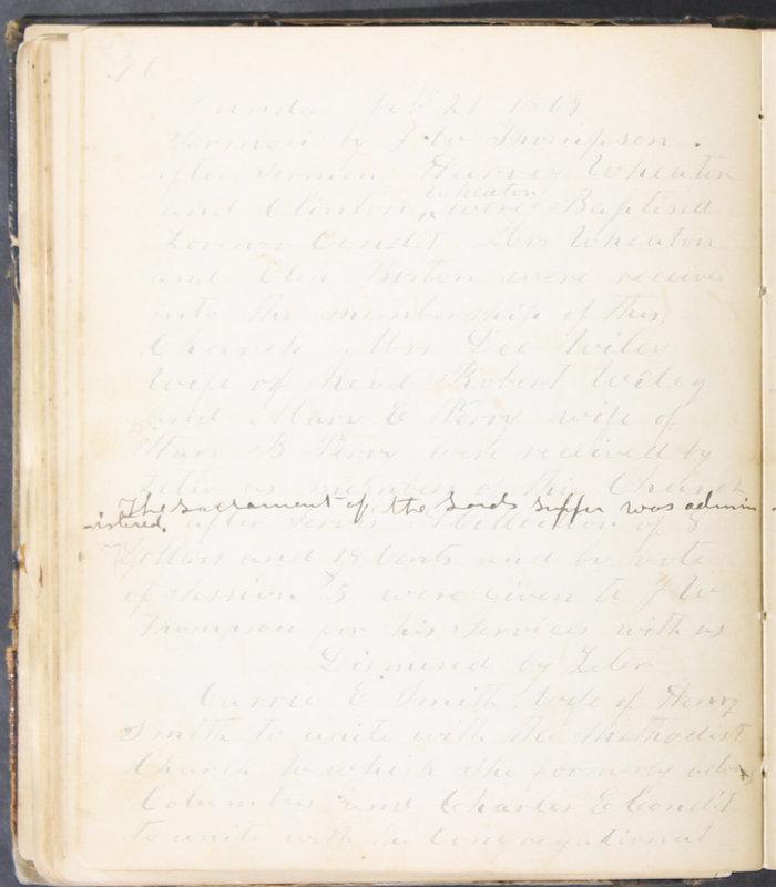 Sessional Records of the 1st Presbyterian Church of Trenton, Delaware Co., Ohio, 1831 (p. 82)