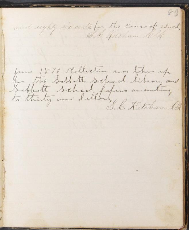 Sessional Records of the 1st Presbyterian Church of Trenton, Delaware Co., Ohio, 1831 (p. 89)