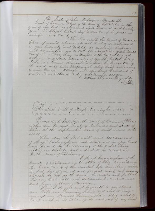 Delaware County Ohio Will Records Vol. 1 1812-1835 (p. 89)