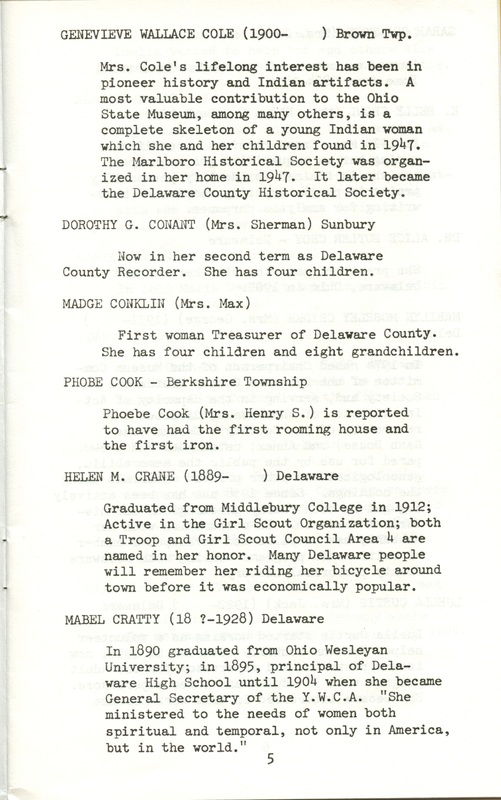 Some Delaware County Women Past and Present (p. 10)