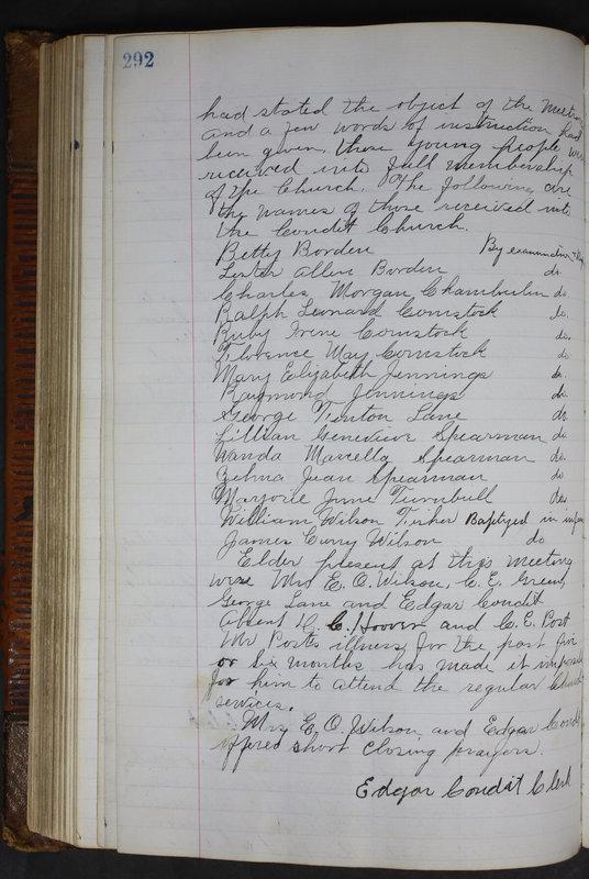 Sessional Records of the 1st Presbyterian Church of Trenton Delaware County Ohio 1873-1937 (p. 279)