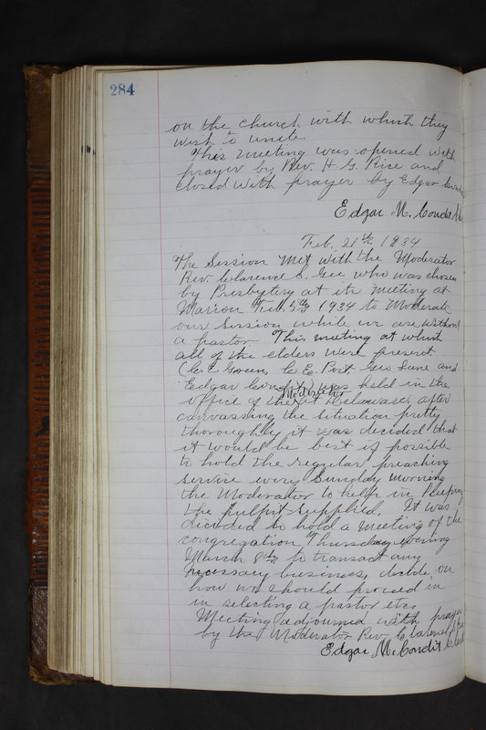 Sessional Records of the 1st Presbyterian Church of Trenton Delaware County Ohio 1873-1937 (p. 271)