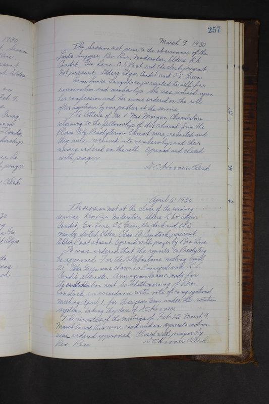 Sessional Records of the 1st Presbyterian Church of Trenton Delaware County Ohio 1873-1937 (p. 245)