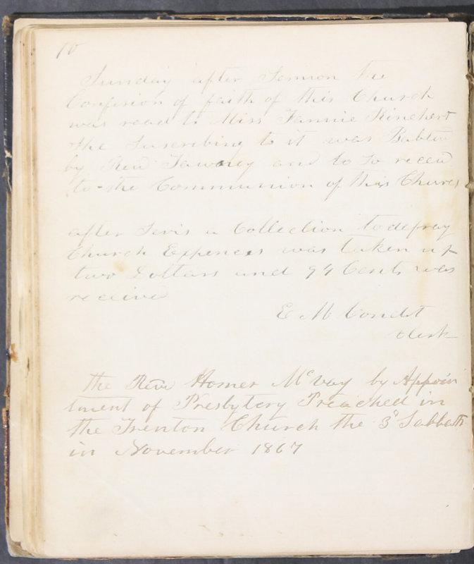 Sessional Records of the 1st Presbyterian Church of Trenton, Delaware Co., Ohio, 1831 (p. 76)