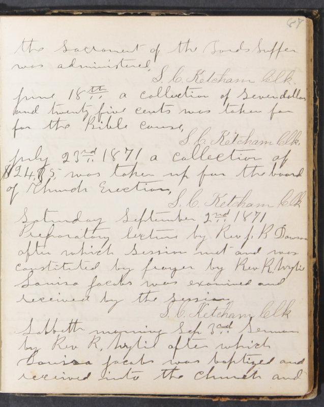 Sessional Records of the 1st Presbyterian Church of Trenton, Delaware Co., Ohio, 1831 (p. 93)