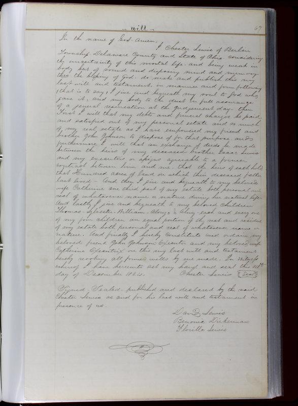 Delaware County Ohio Will Records Vol. 1 1812-1835 (p. 99)