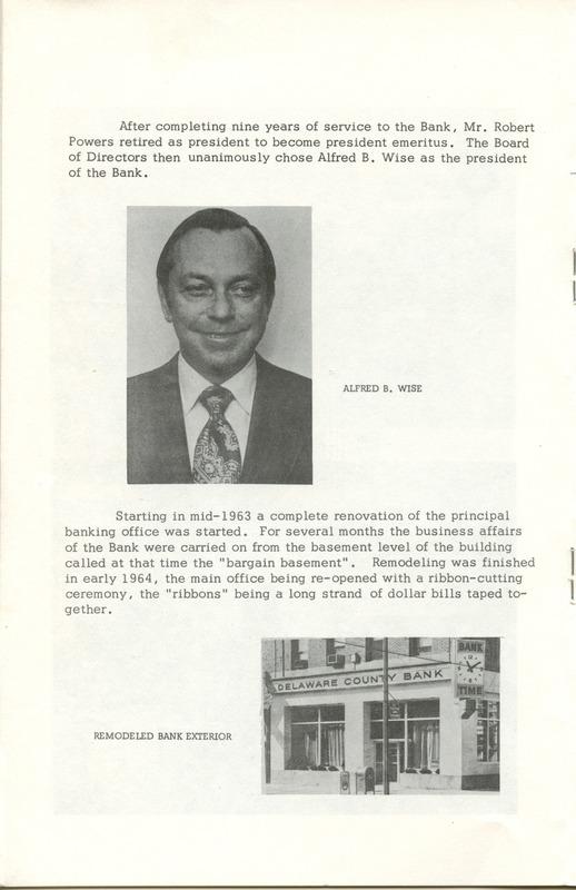 Delaware County Bank 1950-1975 (p. 9)