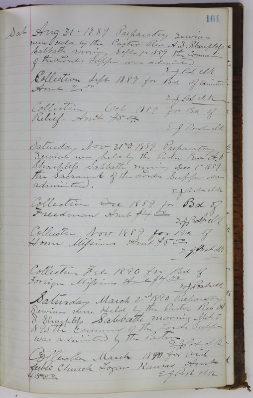 Sessional Records of the 1st Presbyterian Church of Trenton Delaware County Ohio 1873-1937 (p. 151)