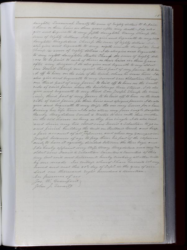 Delaware County Ohio Will Records Vol. 1 1812-1835 (p. 47)