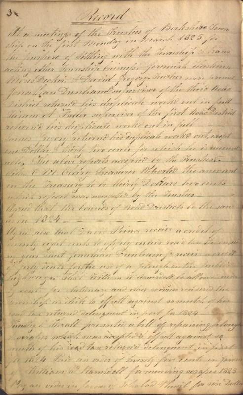 Record Book of Berkshire Township No. 2 1807-1843 (p. 16)