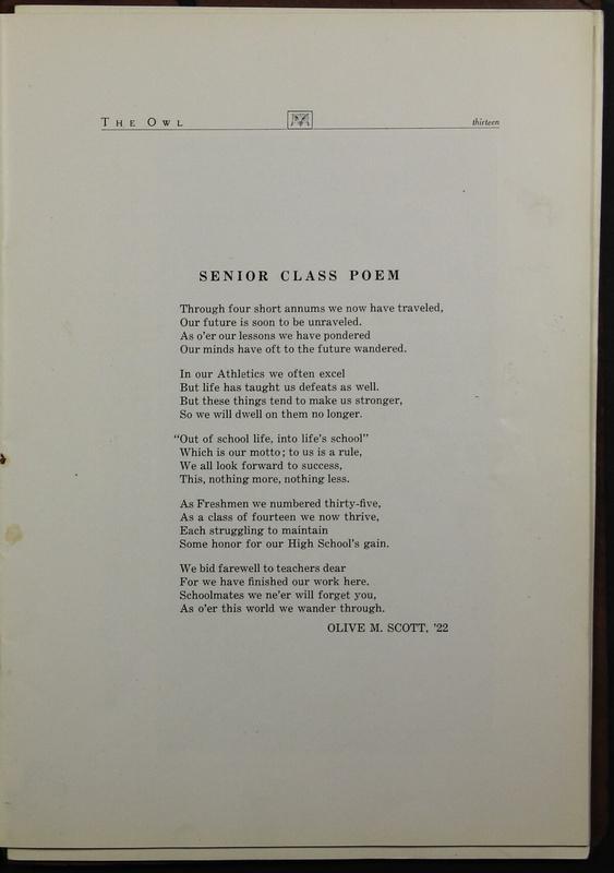 The Owl, Vol. II, 1922 (p.15)