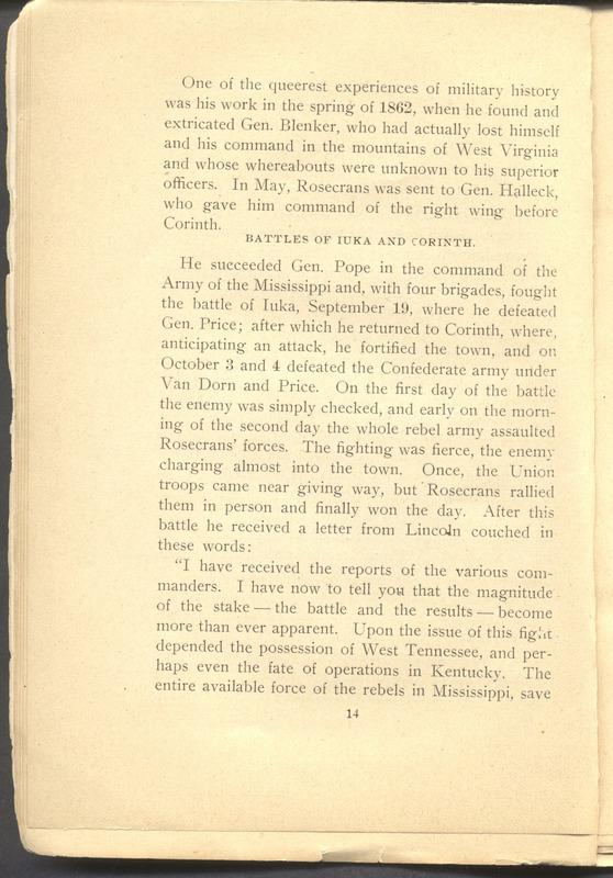 Major-General William Stark Rosecrans (p. 18)
