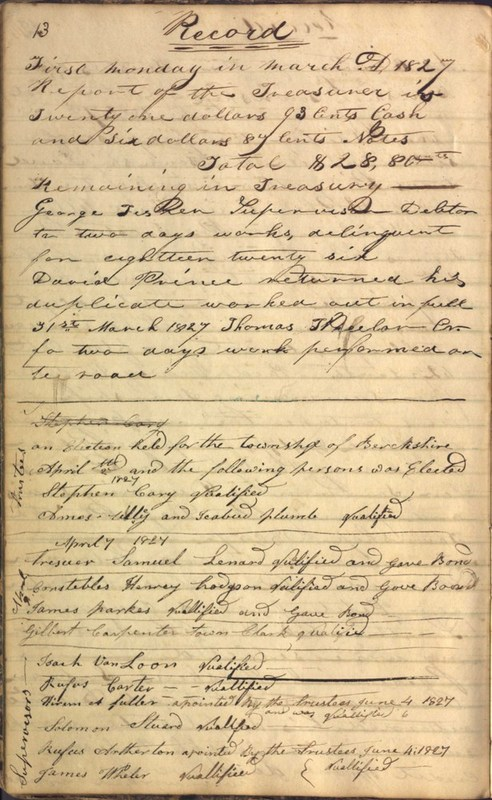Record Book of Berkshire Township No. 2 1807-1843 (p. 26)