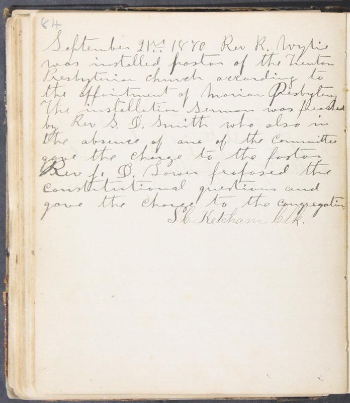 Sessional Records of the 1st Presbyterian Church of Trenton, Delaware Co., Ohio, 1831 (p. 90)