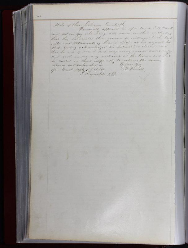 Delaware County Ohio Will Records Vol. 1 1812-1835 (p. 174)