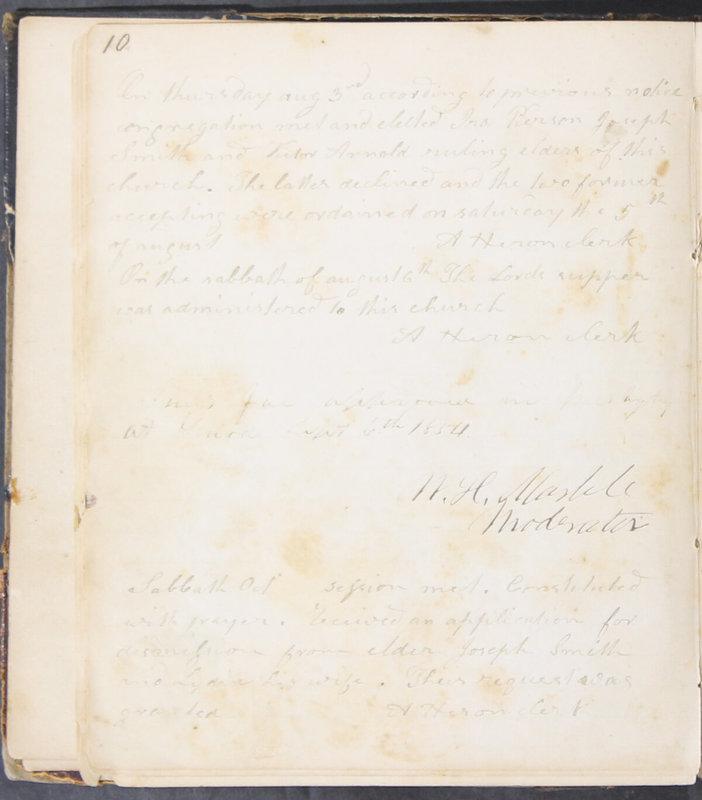 Sessional Records of the 1st Presbyterian Church of Trenton, Delaware Co., Ohio, 1831 (p. 16)