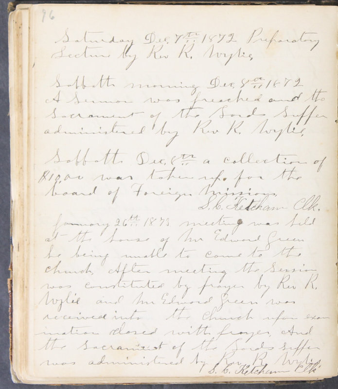 Sessional Records of the 1st Presbyterian Church of Trenton, Delaware Co., Ohio, 1831 (p. 102)