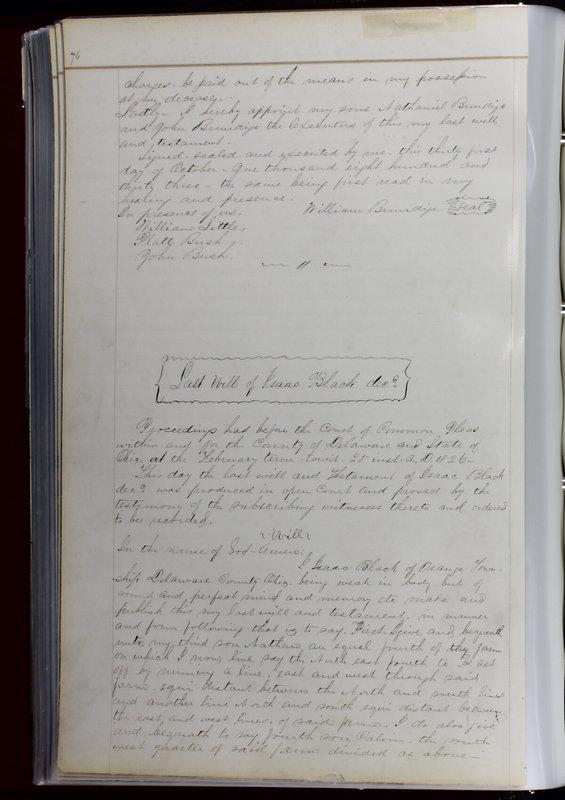 Delaware County Ohio Will Records Vol. 1 1812-1835 (p. 108)