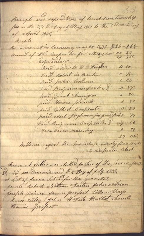 Record Book of Berkshire Township No. 2 1807-1843 (p. 45)