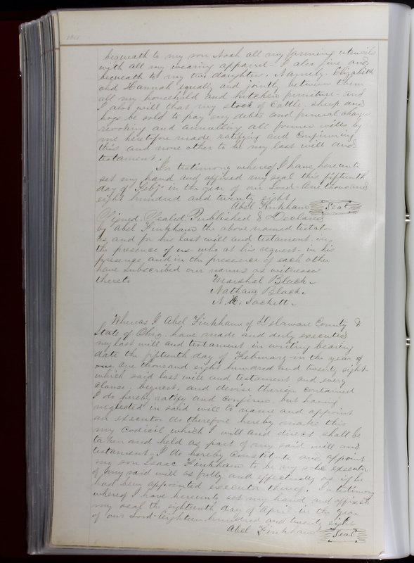 Delaware County Ohio Will Records Vol. 1 1812-1835 (p. 136)