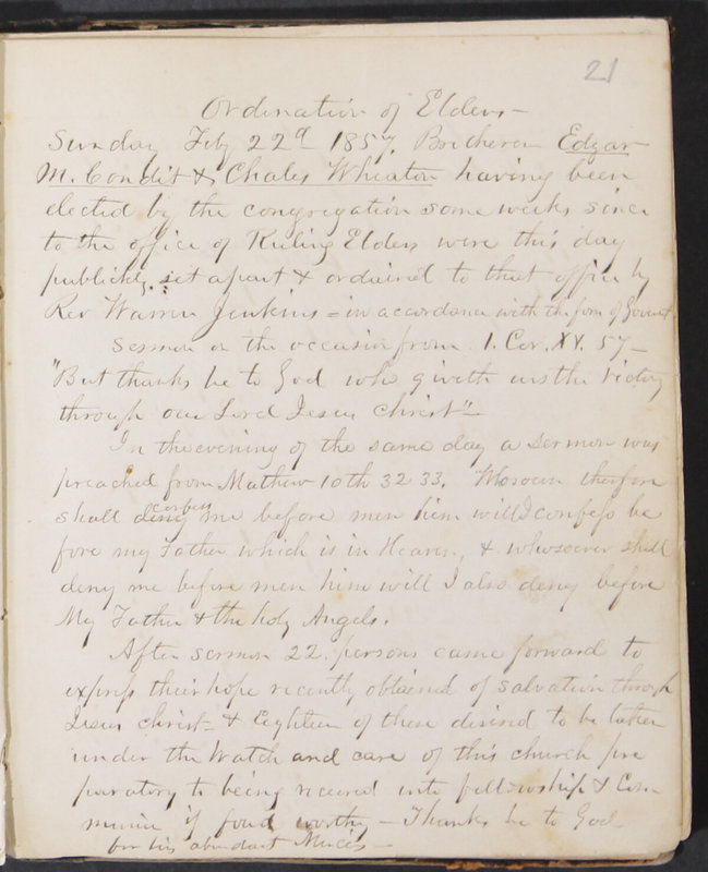 Sessional Records of the 1st Presbyterian Church of Trenton, Delaware Co., Ohio, 1831 (p. 27)
