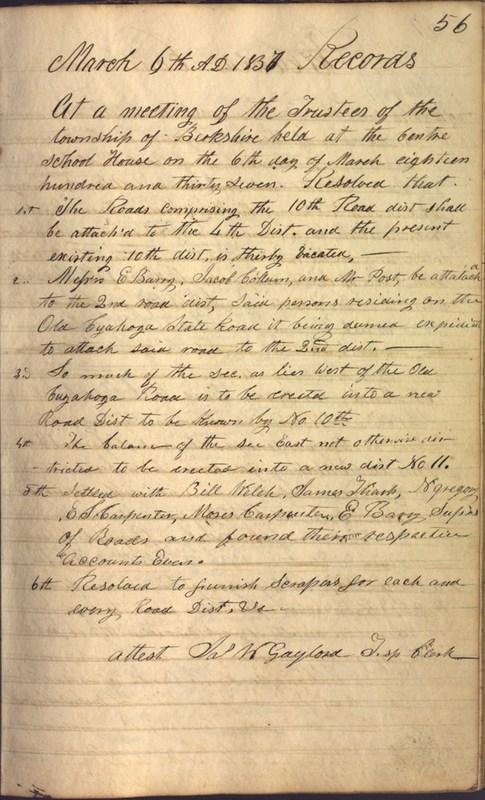 Record Book of Berkshire Township No. 2 1807-1843 (p. 69)