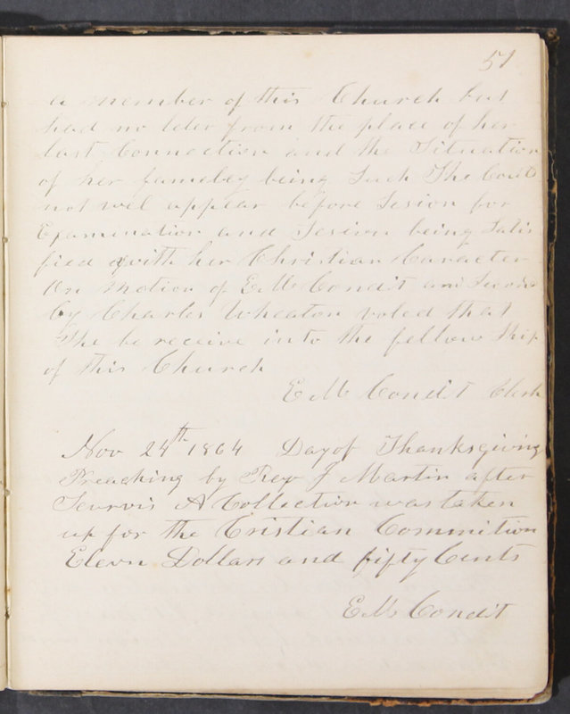 Sessional Records of the 1st Presbyterian Church of Trenton, Delaware Co., Ohio, 1831 (p. 57)