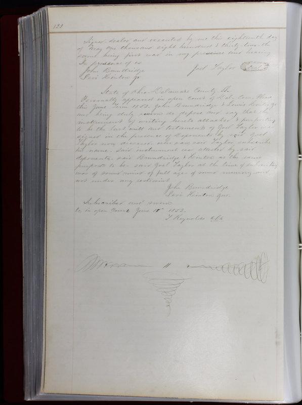 Delaware County Ohio Will Records Vol. 1 1812-1835 (p. 154)