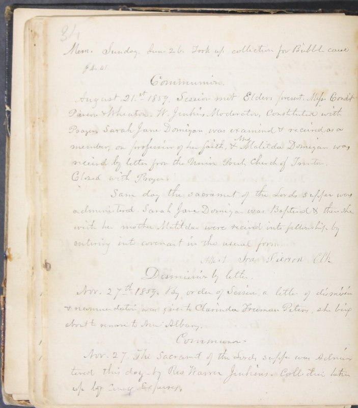 Sessional Records of the 1st Presbyterian Church of Trenton, Delaware Co., Ohio, 1831 (p. 40)