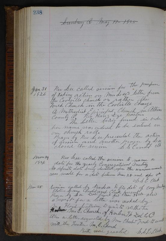 Sessional Records of the 1st Presbyterian Church of Trenton Delaware County Ohio 1873-1937 (p. 226)