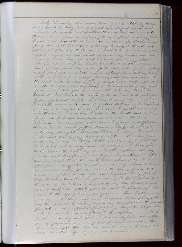 Delaware County Ohio Will Records Vol. 1 1812-1835 (p. 61)
