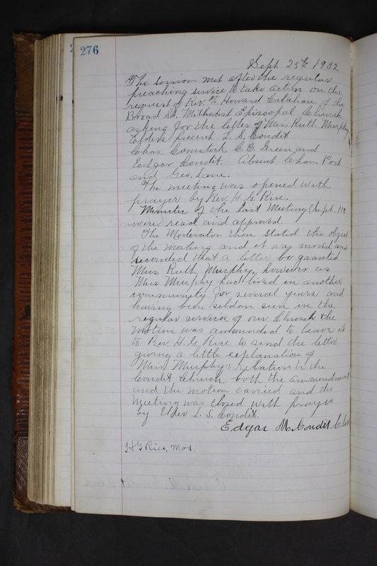 Sessional Records of the 1st Presbyterian Church of Trenton Delaware County Ohio 1873-1937 (p. 263)