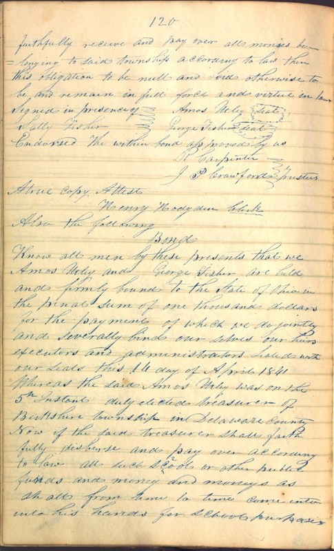 Record Book of Berkshire Township No. 2 1807-1843 (p. 134)