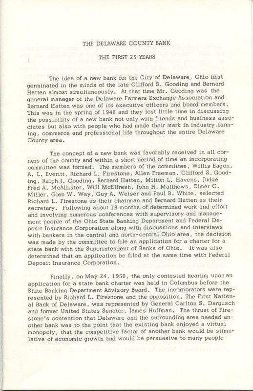 Delaware County Bank 1950-1975 (p. 2)