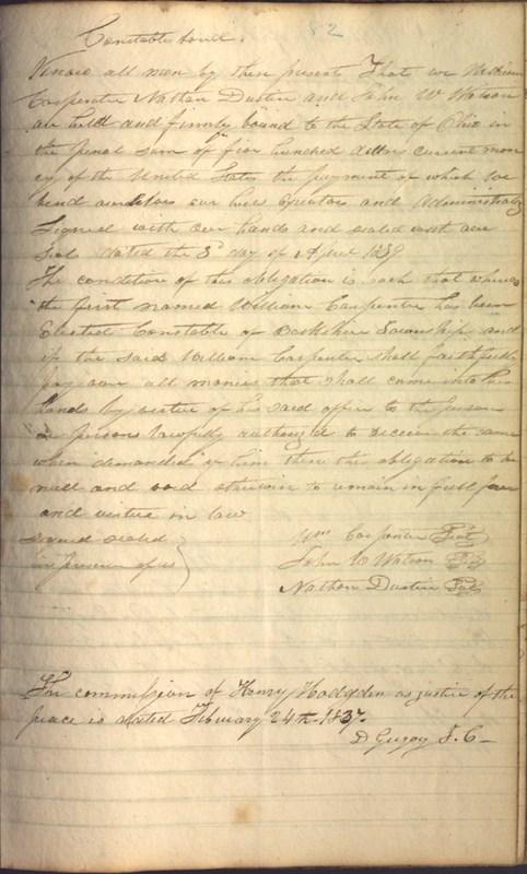Record Book of Berkshire Township No. 2 1807-1843 (p. 95)