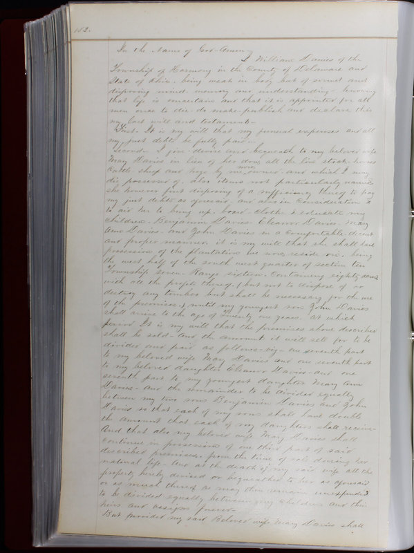 Delaware County Ohio Will Records Vol. 1 1812-1835 (p. 164)