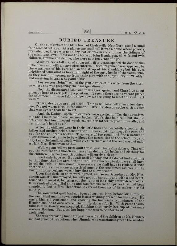 The Owl, Vol. II, 1922 (p.30)